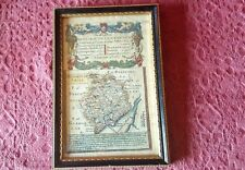 ANTIQUE MAP Monmouth Lanbeder  c1740's  by OWEN / BOWEN double glass Hogarth