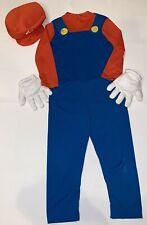 Rubies Super Mario Boys Halloween Costume Size L 12 14 Jumpsuit Hat Gloves