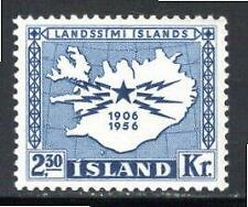 KL6010 1956 Iceland Scott #297 Telegraph & Telephone Service Issue Mint NH