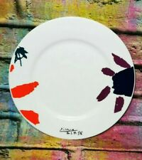 More details for pablo picasso flowers porcelain plate authorized reproduction xl art spain 2004