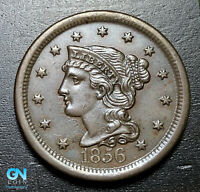 1856 Braided Hair Large Cent --  MAKE US AN OFFER!  #B3674
