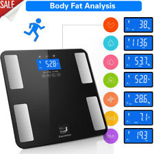 7IN1 180kg Body Fat Scales Weighing Weight Loss Water Bone BMI Analyser Bathroom
