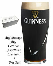 Personalised Engraved 1 Pint Guinness Branded Beer Glass Birthday Wedding Gift