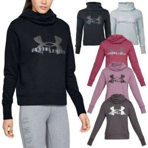 Under Armour Ladies Rival Fleece Sportstyle Logo Hoodie Pullover Soft Top UA Gym