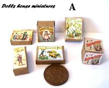 vintage  STYLE TOY BOXES   DOLLS HOUSE