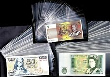 3 Sizes, 150 x OPP Clear Plastic Banknote Sleeves, Protectors (see description)