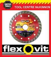 "FLEXOVIT 4.5"" / 115mm ULTRA THIN TURBO RIM DIAMOND BLADE FOR BRICK & CONCRETE"