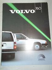 Volvo 760 range brochure 1987 Tourist & Diplomatic Sales