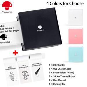 Phomemo Mini Thermal Printer 53mm Label Wireless Bluetooth Photo Pocket Printing