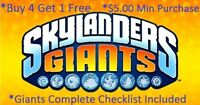 Skylanders Giants Complete Your Set with Checklist* Wii U PS3 PS4 Xbox 360 One👾