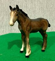 BESWICK HORSE FOAL SHIRE No 1053 SMALL BROWN GLOSS  VERY EARLY DETAILED  MODEL