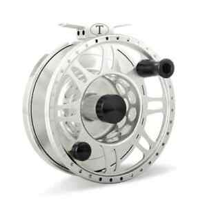NEW TIBOR RIPTIDE FROST SILVER #9-11 FLY FISHING REEL FREE $80 LINE, SHIPPING