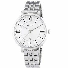 New Fossil Women ES3433 Jacqueline Roman Dial Stainless Silver Band Dress Watch