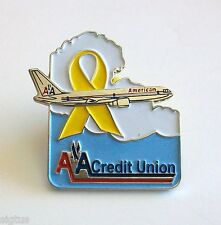 American Airlines AA Employees Federal Credit Union Pin with Yellow Ribbon MINT