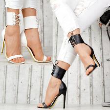 NEU Designer Damenschuhe Sandaletten GOGO Gladiator Party Pumps SeXy Blogger