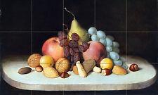 30 x 18 Art Fruit and Nuts Ceramic Mural Backsplash Bath Tile #2410