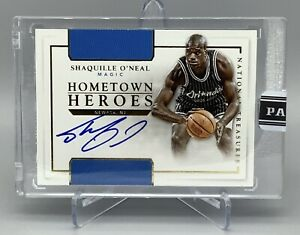 🏀1/1 SHAQUILLE O'NEAL ON CARD AUTO NATIONAL TREASURES HOMETOWN HEROES MAGIC🔥