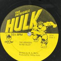 The Incredible Hulk LP Vinyl Record Original 1978 Album