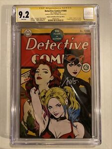 DETECTIVE COMICS #1000 ARTGERM COLLECTIBLES GOLDEN AGE VARIANT CGC 9.2 SIGNED SS