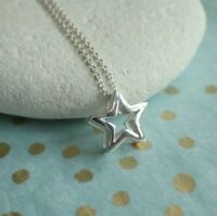 Sterling Silver Star Pendant Necklace - UK Seller