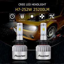 Set H7 CREE LED Car Headlight Kit 252W 25200LM Beam Bulbs Replace HID High Power