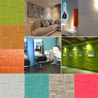 1/10X PE Foam 3D Wall Brick Sticker Removable Waterproof Wallpaper Home Decor US