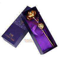 24K Gold Plated Romantic Rose Flower Unique Anniversary Valentine's Day Gifts
