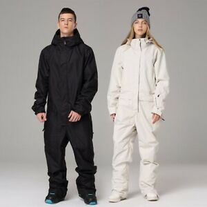 Ski Suit Jumpsuit Snowboard Jacket  Men Women Outdoor Hiking Skiing Set Winter
