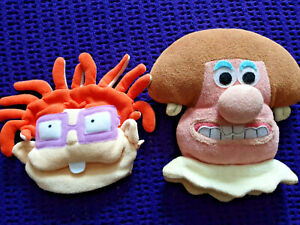 1X Wallace and Gromit character plush washmitt & 1X Rugrats Chuckie Finster