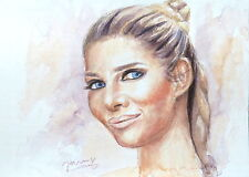 Jannys ART - Micaela - Modern Art Painting Portrait Kunst Aquarell