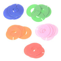 5x ropa en blanco tamaño rack anillo armario divisor organiza*QA