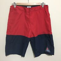 Butter Goods Colour Block Board Shorts Beach Swim Surf Red Blue Mens 32