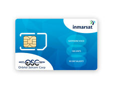 SIM Card for Inmarsat IsatPhone Pro and IsatPhone 2 with 100 Units (76.8 Mins*)