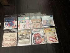 My Minds Eye/ Echo Park Ephemera Diecuts 8 Packs Plus Bonus Scrapbook Card Kits