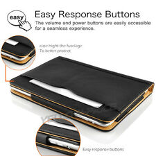 Black Leather Wallet Smart Case Cover with Pocket & Folding Stand for iPad 2/3/4