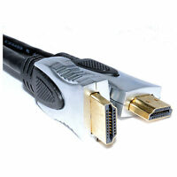 PURE HQ OFC HDMI Cable V1.4 Lead Gold Plated METAL ENDS 1M 2M 3M to 5 Metre