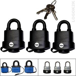 3 Pack Padlock Keyed Alike High Security Strong Waterproof Heavy Duty Outdoor