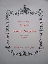 Sonata Seconda by Veracini for flute (or violin) + piano *NEW* Pub. Rudall Carte