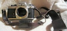 Vintage 35mm Nikon FE 3286813 camera body with Kalimar no. 9310176 Macro Lens