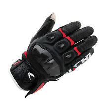 RST410 NRS Taichi Mens Perforated leather Motorcycle Mesh Gloves  Red+ Black  XL