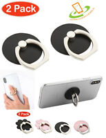 2 Pack Universal 360 Rotating Finger Ring Stand Holder For Cell Phone iPhone