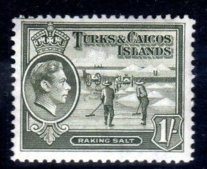 TURKS & CAICOS-,,,1938-45...SG 202a  .. 1/-   LMM