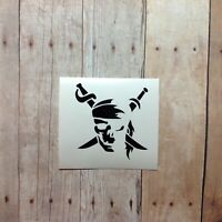 Pirate Skull Skeleton Vinyl Decal Sticker | For yeti, for hydroflask, car
