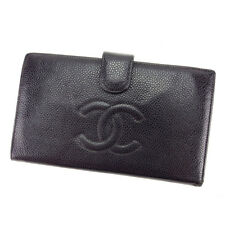 Chanel Wallet Purse Coin purse COCO Black Woman unisex Authentic Used T3130
