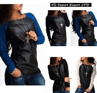 Maglia Donna Top Manica Lunga Woman Long Sleeve Top T-shirt 561022