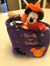 New listing Rare Mickey Mouse Trick or Treat Candy Bag Halloween Plush Witch Outfit Toy