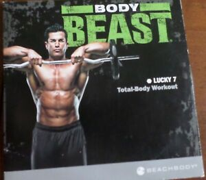 Beachbody Body Beast Lucky 7 Total Body Workout Bonus Strength Training DVD New