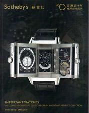 SOTHEBY'S HK WATCHES Breguet Chopard LeCoultre Panerai Patek Piaget Piguet Rolex