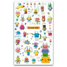 CUTE ROBOT STICKERS Sheet Craft Kids Craft Scrapbook Raised Sticker Space Age