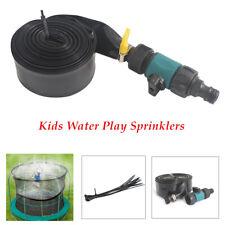12M Trampoline Water Game Sprinkler Garden Cooling Kid Fun Spray Hose water park